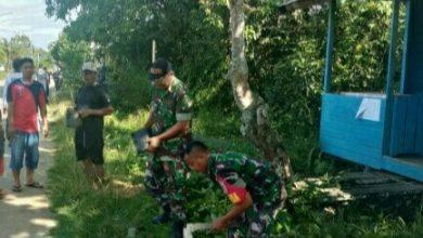 Photo of Koramil 0909-02 Sangkulirang Melakukan Gotong Royong Galakan Penghijauan