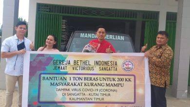 Photo of Jamaat GBI Sangatta Sumbanggkan Satu Ton Beras