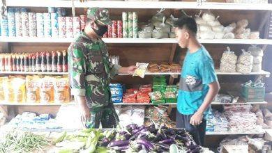 Photo of Koramil Muara Bengkal Cek Stock Sembako Jelang Idul Fitri