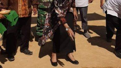 Photo of Prayunita Tabur Benih Rumput Gelora di Lapangan Desa Marah Haloq
