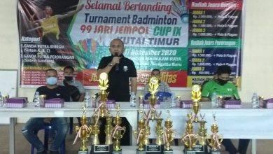 Photo of Rudi Buka Turnamen Badminton 99 Jari Jempol Cup Ke IX 2020.