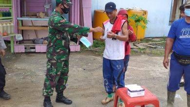 Photo of Koramil Muara Wahau Lakukan Operasi Yustisi Pendisiplinan Wajib Masker dan Protokol Kesehatan.