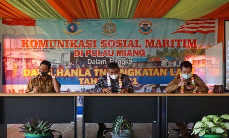 Photo of Lanal Sangatta Gelar Komsosmar Dalam Rangka Dawilhanla di Pulau Miang